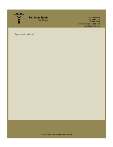 Doctor business letterhead for Doctors letters templates