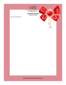 _Ribbon_Valentines_Letterhead Valentine S Day Letterhead Templates on you light up my, menu background, free download, hearts print, event flyer, related free, order form, greeting card, party flyer,