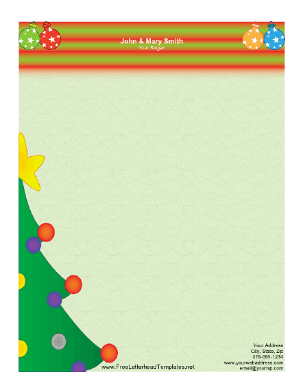 free holiday stationery templates - christmas letterhead templates free search results