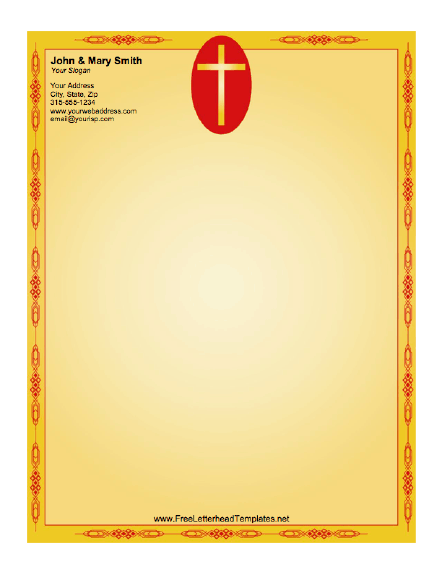Cross letterhead for Christian letterhead templates free